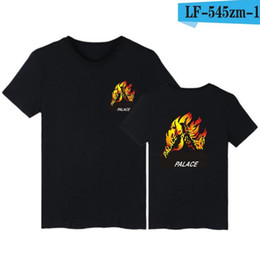 Wholesale Xl Gold Sequin Top - 2017 palace skateboards classic triangle print mens t shirt basic summer noah clothing cotton short sleeve tees tops