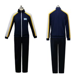 Wholesale Yuri Costume - Anime Yuri on Ice Yuri Otabek Altin Cosplay Coat Yuri!!! on Ice Sport Suit Costume Coat Pants Set
