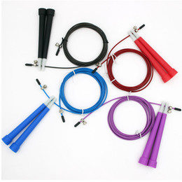 Wholesale Crossfit Speed Ropes Wholesale - 3m Jump Ropes Steel Wire Adjustable Fast Speed ABS Handle Jump Ropes Crossfit Training Boxing Sports Exercises