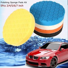 Wholesale Car Wax Polish Kit - 5pcs 3 4 5 6 7 Inch Buffing Sponge Polishing Pad Kit Set for Car Polisher Buffer Waxing Wash Tools