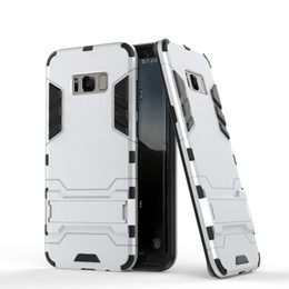 Wholesale Robot Cases Stand - New For iphone 8 IronMan Robot Armor phone Cases 2 in 1 Stand Skin Holder Cover Hybrid Silicone Case for iphone 7 6s for Samsung S8 S7