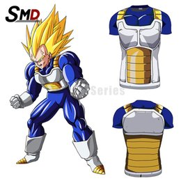 Wholesale Dragon Ball Z Goku Costume - Men's Fashion Dragon Ball T Shirt for men 3d Vegeta Goku Super Saiyan Design Top t-shirt Dragon ball z Costume Funny tshirt