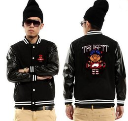 Wholesale Trukfit Shipping - trukfit jackets free shipping hip hop coat men high quality for sale baseball coats fashion new style sportswear clothes men Women