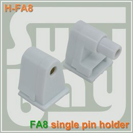 Wholesale Single Light Socket - Free shipping FA8 Holder T8 LED Tube light Single pin Socket Fitting one spring-loaded one fixed (non-spring) end connnector