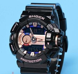 Wholesale Digital Watches Water Proof - AAA Popular auto light Mens sport fashion Digital watches Led water proof Gba400 multifunction Trend sports watch with Box Case
