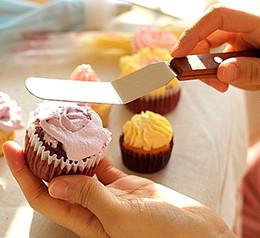 facas de pão por grosso Desconto Atacado - ferramentas de cozimento SDFC 4 polegada beijo faca faca de pão bolo faca bolo ferramenta de corte de espátula 11-061