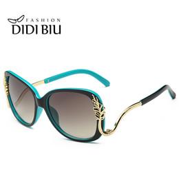 Wholesale Street Frame - DIDI Women's Gold Leaf Shield Sunglasses Female Leaves Decrative Sun Glasses Baroque Street Snap Luxury Eyewear Brands Points Glasses W417