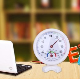 Wholesale Wall Mount For Lcd - Promotion Mini LCD Digital Bell-shaped Scale Thermometer Hygrometer for Home Office Wall Mount Indoor Temperature Measure Tool