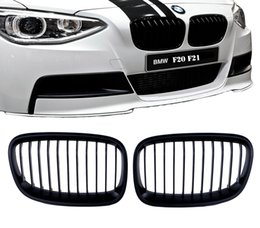 Wholesale Bmw Series M - 2x Matte Black For BMW 1 Series F20 F21 M Performance Sport Front Grill Kidney Grille 2011 2012 2013 2014 #P12