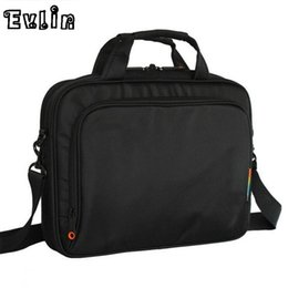Wholesale Tote Bags For Men Wholesale - Wholesale- New Men Messenger Bag Black Nylon Cloth Waterproof Male Shoulder Crossbody Business Bags For 12 14 15 inch Laptop Books Man Bag