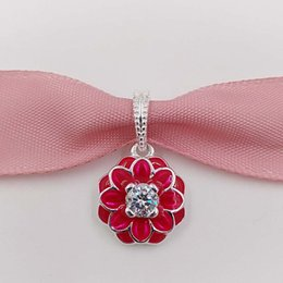 Wholesale Easter Jewellery - Spring Flower S925 Sterling Silver Beads Oriental Bloom Pendant Fit European Style Brand Charms Bracelet ALE Jewellery Gift 791829CZ