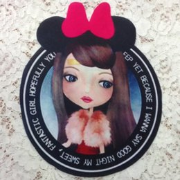 Wholesale Wholesale Iron Princess Patches - 20pcs Princess Backing Iron On Patch For Clothing Patches parches Embroidered Motocycle Jacket Sport Badge Patchwork Appliques Accessories