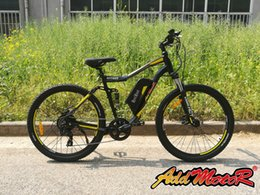 Wholesale Mountain Motors - Addmotor HITHOT H1 Sport Yellow Mountain E-bike H1 48V 500W Bafang Motor 10.4 AH H1 Orange Electric Bike