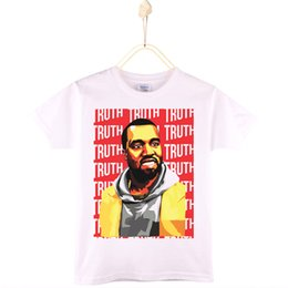 Wholesale Girls Clothes For Sale - 2017 Hot Sale Children Clothes Kids T-shirt Kanye West Cotton T Shirts For Boys And Girls Baby Tshirt Child Shirt Free Shipping