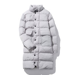 Wholesale High Quality Men S Trench - Wholesale- 2016 winter Men's casual fashion high quality jacket thick Parkas Trench coat, Men's winter jackets cotton padded jacket