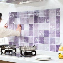 Wholesale Self Sticker - 100x60 cm Self-adhesive Anti-oil Stickers for Kitchen Ceramic Tile Wall Stickers Paste Oil Fume Stickers 100g
