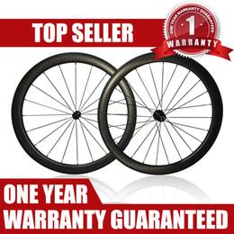 Wholesale Carbon Clincher Wheelsets - Dimple carbon wheels bike wheelset with R13 700C full carbon bike wheels matte black 50mm dimple wheelsets