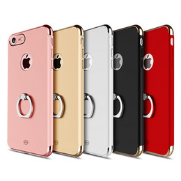 Wholesale 3in1 Ring - JOYROOM for iPhone 8 Luxury Case 3in1 Plating Shockproof PC Cases with Ring Bracket Back Cover for iPhone 8 8 Plus