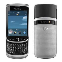 Argentina Restaurado Original Blackberry Torch 9810 Desbloqueado Slider Teléfono móvil Pantalla táctil de 3,2 pulgadas + QWERTY 8GB ROM 5MP Cámara WIFI DHL gratis 5pcs Suministro