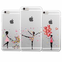 Wholesale Girly Wholesale - Flower Fashion Girl Girly Floral Balloon Yoga Fresh Phone Case Fundas For iPhone 7Plus 7 6 6S 5 5S SE 5C SAMSUNG
