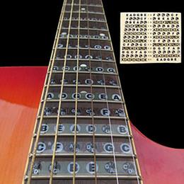 Wholesale Electric Guitar Stickers - Wholesale- Acoustic Electric Guitar Fretboard Fingerboard Note Sticker Map Frets Guitarra