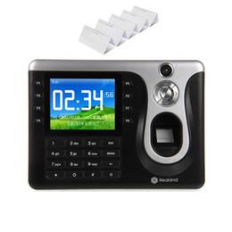 "Wholesale Fingerprint Time Clock Usb - Wholesale- Realand A-C101 3.2"" TFT Fingerprint Time Attendance Clock USB Port Employee Software with ID Card 20 pieces"