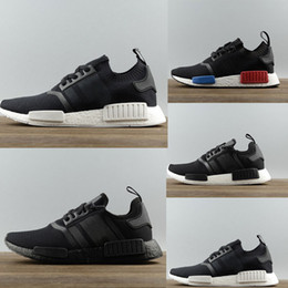Wholesale NMD Runner Shoes NNM_R1 Monochrome R1 Mesh Primeknit Triple White Black NMD XR1 PK Women Men Running Shoes Sneakers size36
