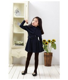 Wholesale Kid S Down Coats - Girls 2016 \Winter Fashion Kids Long Jackets Coat Children's Outerwear Girl Winter Baby Clothing Coats Girls Trench Coat
