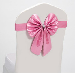 Wholesale Price Chair Covers Weddings - Elastic Bow Chair Decoration Wedding Party Spandex Sashes for Chair Cover Event Decorative Chair Sashes High Quality Best Price JF-608