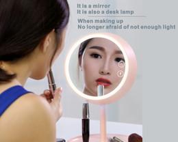 iluminar productos Rebajas Espejo de maquillaje multifunción, con luz de maquillaje LED, espejo, espejo de maquillaje, maquillaje de belleza, baño del hogar, productos de belleza.