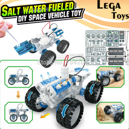 Wholesale Model Cars Kits - Wholesale- Salt water Engine Car Kit fueled DIY space vehicle toy,Bine Power Robot Blocks Science Model kit Educational Toys for children