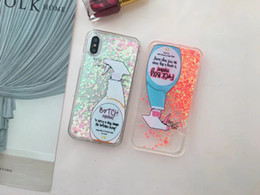 Wholesale liquid plastic spray - Blue Fresh Couture Cleaning Spray Bottle Cover Liquid Quicksand Sparkle Hard Plastic+Soft TPU Case For Iphone X Heart Love Bling Cover Skin
