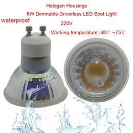 Al por mayor-Driverless 6W Bombilla LED AC220V Driverfree IP65 Impermeable Cuarto de baño Regulable LED Lámpara de luz del punto del techo Envío Gratis desde fabricantes