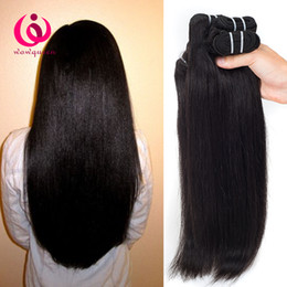 Wholesale Cheap Virgin Indian Human Hair - Indian Human Weave Hair Straight 4Bundles Double Weft Wow Queen Products Cheap Wholesale Price Unprocessed Indian Virgin Hair Extensions