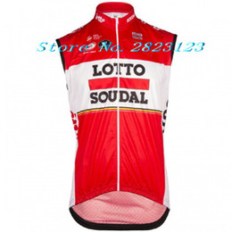 Wholesale Lotto Jersey - 2017 LOTTO SOUDAL PRO TEAM RED SUMMER ONLY Sleeveless Vest Bicycle Bike Wear Cycling Jersey Size XS-4XL E04