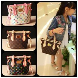 Wholesale Girls Handbags Purses - Kids Tote Bag Stylish Child Handbag Designer Kid Girl Purses Shoulder bags Fashion Children Handbags Mini Baby BAG Christmas Gift KW-BA89