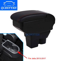 Wholesale Vw Stores - Leather Cover For VW jetta 2013-2017 Armrest Box Central Store Content Box Cup Holder Interior Car-styling Products Accessory