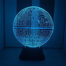 Wholesale Night Planets - Wholesale- Wholesale 3D Illusion Led Night Lights New Planet Shape USB Table Lamp Creative Nightlights Decorative Lighting luminaria