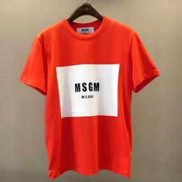 Wholesale Men Sexy T Shirt - MSGM T Shirt 2018 Summer Sexy Girl Club Hip Hop Skateboard Box Logo Casual Msgm Milano T-shirts Kanye West Paris Anime Mens Tops