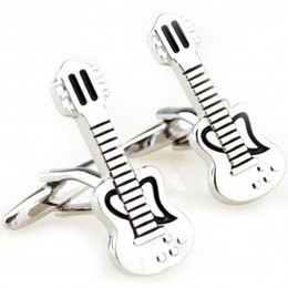 Wholesale Guitar Cuff Links - Guitar Cuff Link Cufflink 3 Pairs Wholesale Free Shipping Promotion