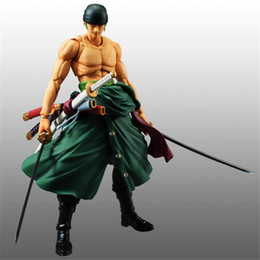 Wholesale New Japanese Doll - New Arrival One Piece Roronoa Zoro The Straw Hat Pirates Action Figures PVC Anime Toys Japanese Cartoon Doll Toys 19cm
