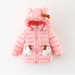 Wholesale Simple Korean Girls - 2017 kids clothes Winter children's clothing wholesale Korean version of the simple color cartoon KT cat hand cotton cotton clothing