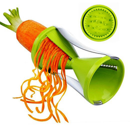 Wholesale Free Shipping Gadgets - New Vegetable Spiral Slicer Spirelli Graters Kitchen Spiralizer Julienne Cutter Carrots Gadgets Free Shipping