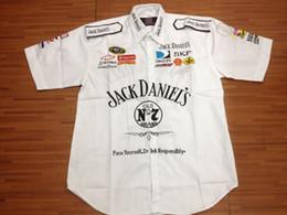 Wholesale Painting Roads - FIA Formula 1 word Road Racing Cotton summer shirts GSN NASCAR Motorcycle Racing shirt for Jack danile's racing team Car F1 moto Team shirts