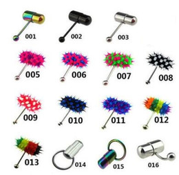 Wholesale Wholesale Vibrating Rings - The hot selling shock tongue ring nail exquisite puncture jewelry vibrates the tongue ring with two button batterys