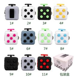 Wholesale First Package - New Fidget Cube Fidget Spinner The world's first American Decompression Anxiety Toys Adults Stress Relief Kids With Retail Package 100pcs