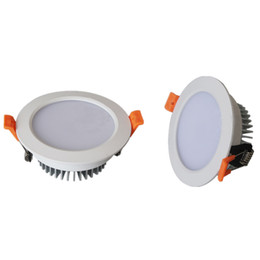 Wholesale Dimmable Led Downlight 7w - Recessed LED Down lights Dimmable LED Ceiling Downlight Light 7W 9W 12W 15W 18W SMD 5630 LED downlights Warm Nature Cool White AC85-265V