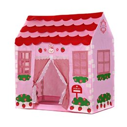 Wholesale Castle Toy For Girls - Playhouse Tent Toy for Girls Pink Play Tent for Children, Children's Lodge Castle Cubby Tent Camping House Toy for Girls Gift
