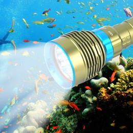 Wholesale Diver Diving Flashlight - 15000Lumens Underwater Diving Flashlight Torch 3 Modes Waterproof Light Lamp Scuba Diver Diving For Hunting