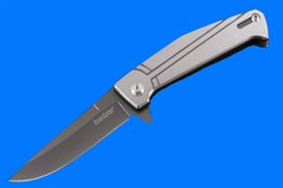 Poliertes taschenmesser online-Taktische Geschenk Messer KERSHAW 4035T Ordner 5CR15MOV Satin polnischen Spearpoint Blade CNC Griff Klappmesser Taschenmesser B286Q